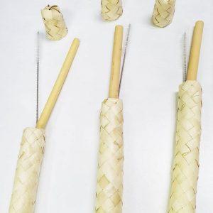 Bamboo Straw Banig Set