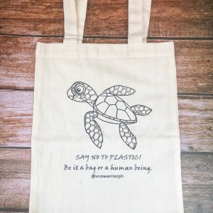 Sea Turtle Animalia Canvas Tote