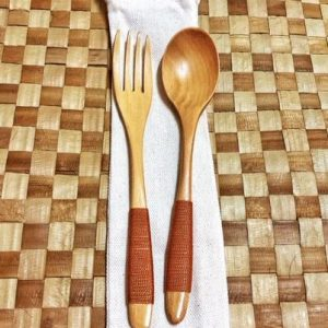 Bamboo Spoon and Fork Set