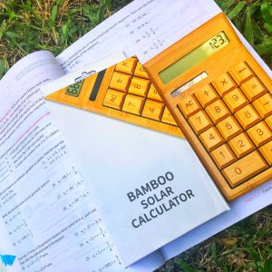 SALE! Solar Powered Bamboo Calculator