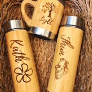Personalized Bamboo Tumbler/ Coffee Cup/ Mug
