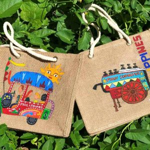I Love Philippines Hand Painted Tote