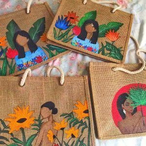 Hand Painted Abaca Tote Bag